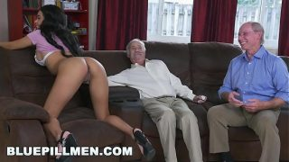 BLUE PILL MEN – A Couple Of Old Men Have Fun With Young Black Goddess Aaliyah Hadid