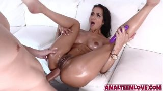 Sexy booty Abby Lee Brazil get ass filled